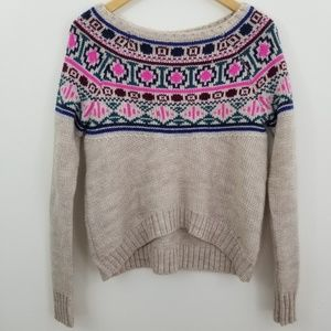 American Eagle Nordic Cropped Sweater Size Small